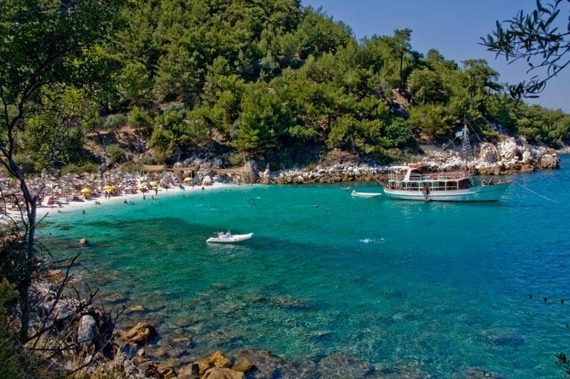 Beaches, Ostria hotel Skala Potamia Thassos apartments studios rooms